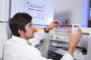 Ground water samples from Barnett shale stored in refrigerators at UT Arlington